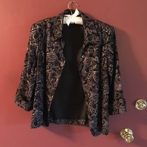 Black Dress Jacket With Gold Sparkles